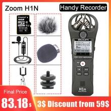 ZOOM Original H1N H1N Handy Recorder DSLR Audio Video entrevista Micrófono estéreo con tarjeta de 16GB BY M1 micrófono Lavalier