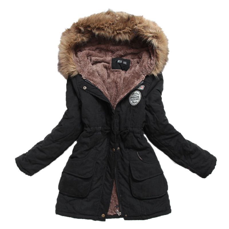 New Winter Women Jacket Medium-long Thicken Plus Size 4XL Outwear Hooded Wadded Coat Slim Parka Cotton-padded Jacket Overcoat 1