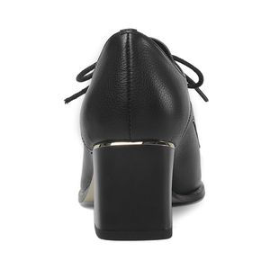 Image 5 - ALLBITEFO natural genuine leather high heel shoes comfortable women heels spring autumn high heels Frenulum office ladies shoes