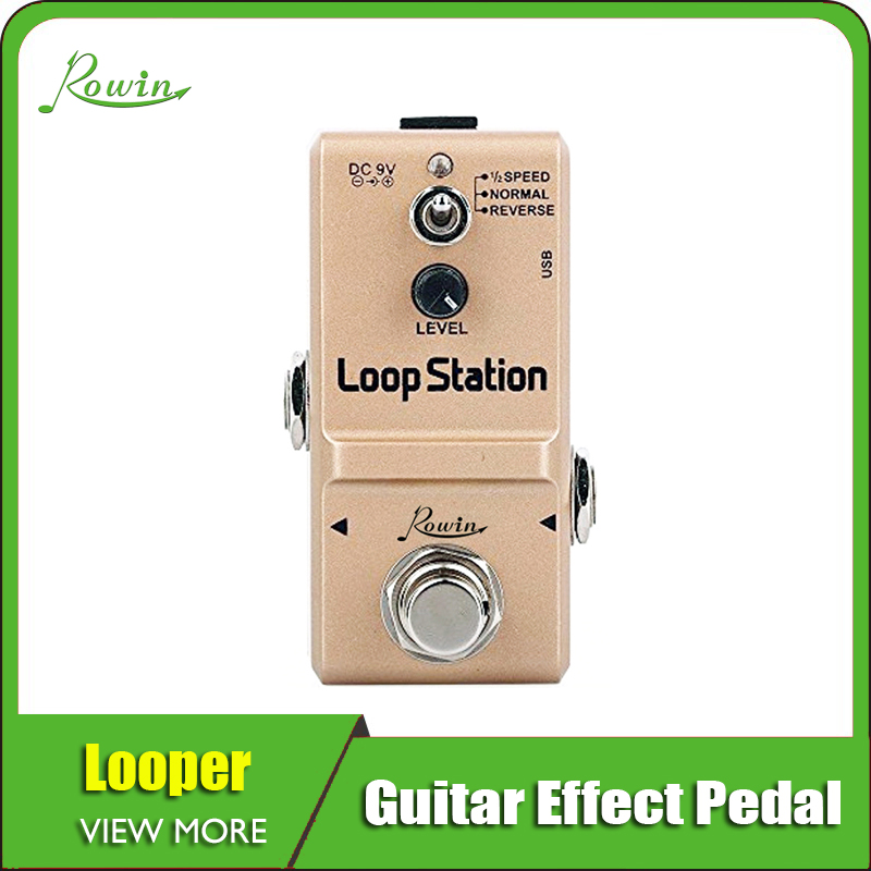 Rowin Looper Effects Pedal Unlimited Overdubs 10m Of Looping 1/2 Time Reverse