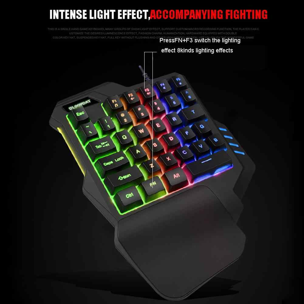 WAWRR One-Hand Mechanical Keyboard Mini RGB Keyboard 35 Keys Switches for Variable Programming and Game use