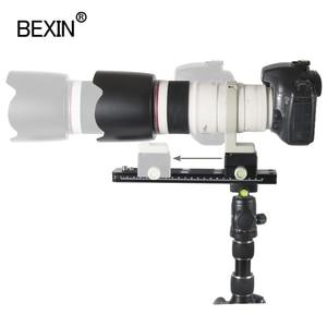 Image 2 - BEXIN تليفوتوغرافي عدسة دعم كاميرا لوحية عدسة قوس dslr الإفراج السريع لوحة مع qr المشبك ل arca السويسري ترايبود dslr كاميرا