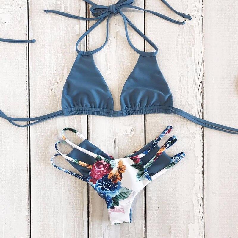 H31983f97dc1a40269ae09f51c31d7dd6z 2018 Sexy Bikini Swimwear Women Push Up Swimsuit Bandage Bikini Set Brazilian Summer Beach Bathing Suits female Biquini Print