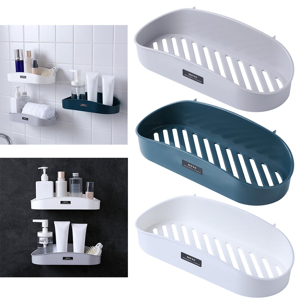 Bathroom Perforated Wall-free Storage Rack Shelves Storage Wall Shelf Kitchen Storage Rack Organizer Wall Holder Bathroom Shelf