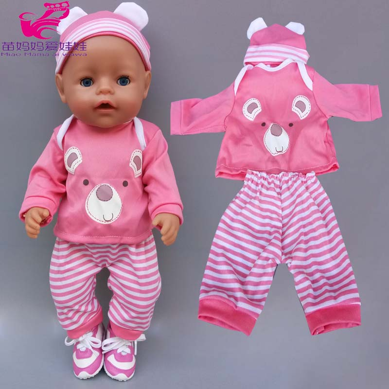 40cm-43cm Baby Doll Clothes Hat Bebe Dolls Rompers 18 Inch American OG Girl Doll Outfits