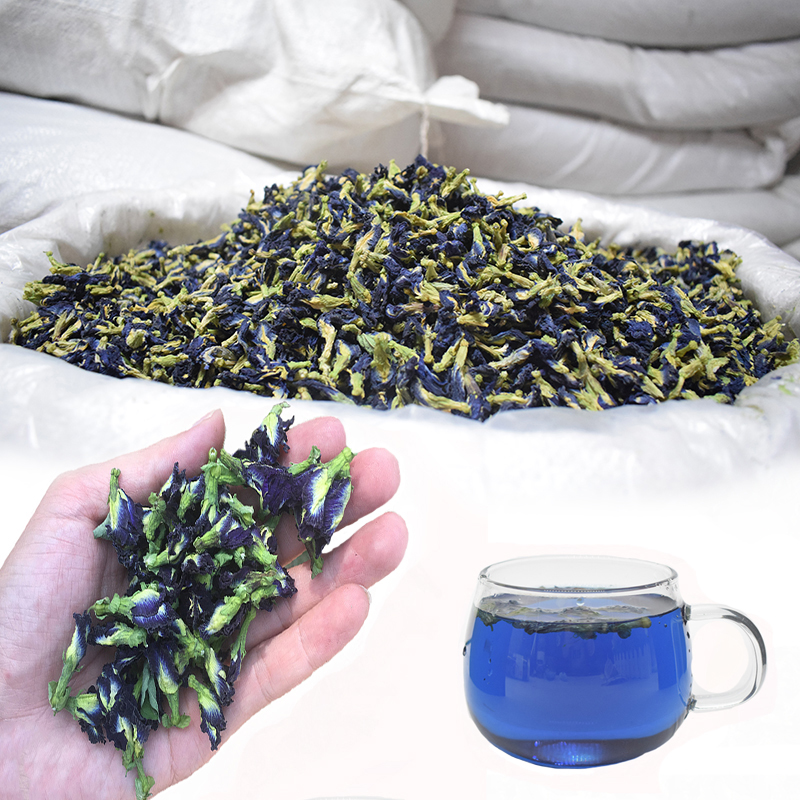 500g/1500g/bag Clitoria Ternatea Tea.Blue Butterfly Dried Pea Tea.Dried Clitoria Kordofan Pea Flower.Thailand.kitchen Toy