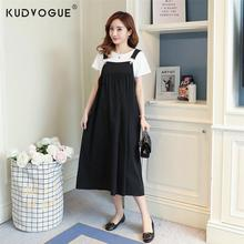 Summer Maternity Clothing Loose Strap Maternity Overalls Dress For Pregnant Women Suspender Dresses Long Pregnancy Vestidos maternity clothing v neck long evening gowns dresses for pregnant women pregnancy vestidos maternity party prom dress