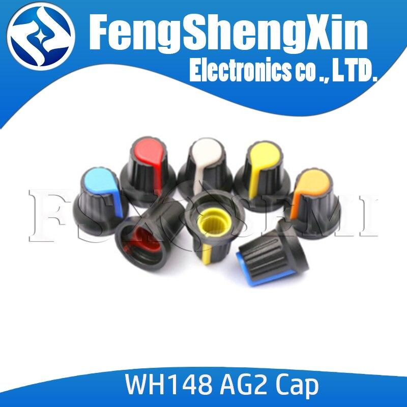 Новая крышка потенциометра WH148, 10 шт./лот, желтая, оранжевая, синяя, белая, красная, 15x17 мм, AG2