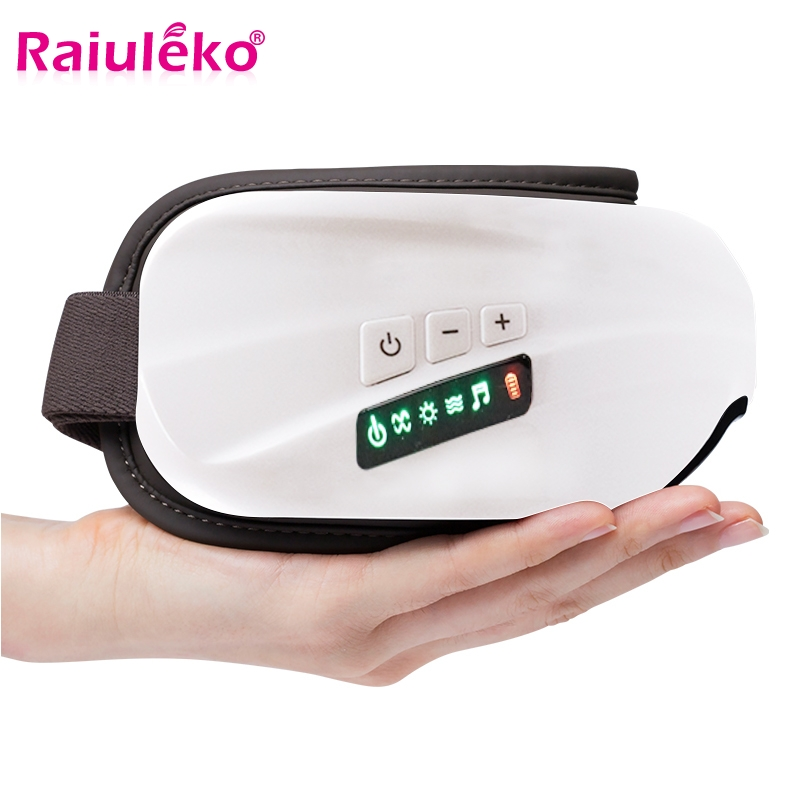 Eye Massager Electric Vibration Eye Massage Music Compressive Air Eye Pressure Heating Massage Glasses Eyes Care Reduce Myopia