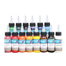 Para dans de prata 14 cor 30ml conjunto de cores tatuagem tinta tatuagem equipamento ferramentas tatuagem tinta tatuagem tatuagem conjunto pigmento