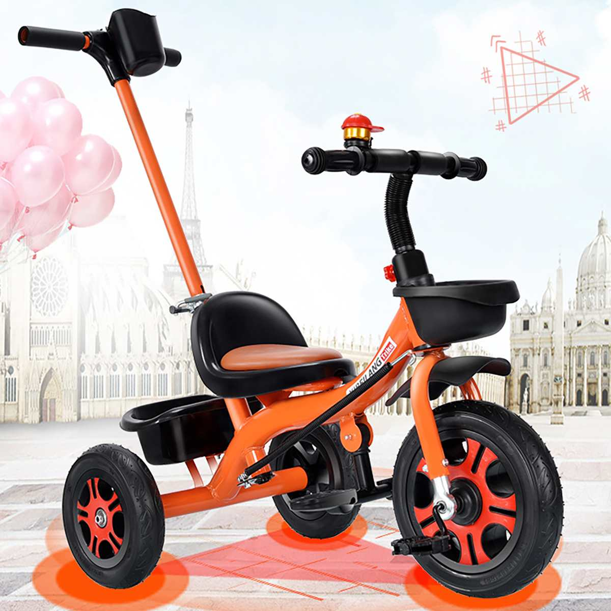 Children Traveling Bike-Walker Bicycle Balance Baby-Stroller Car-Toy Scooter Tricycle-Ride Bike Tricycle-Toy Scooter Car