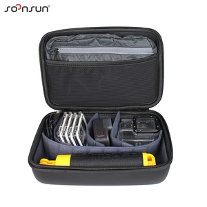 Image 3 - SOONSUN Portable Waterproof Shockproof Protective Storage Case Bag Box for GoPro Hero 9 8 7 6 5 4 for DJI Osmo Action Accessory