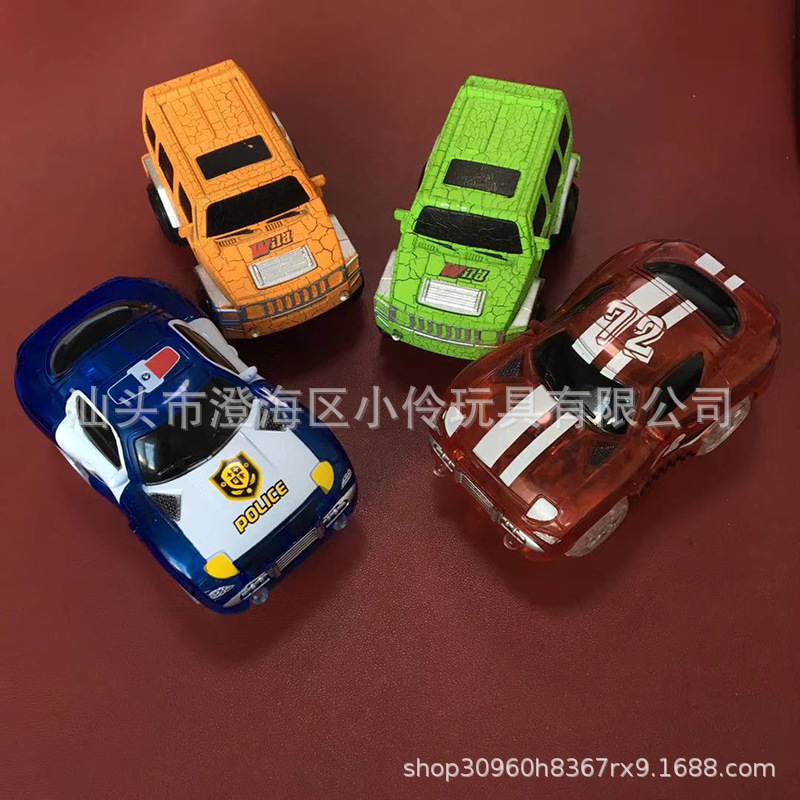 Night Light Rail Car Multi-functional Free Combination Fight Inserted DIY Roller Coaster Rail Car Toy Hot Selling