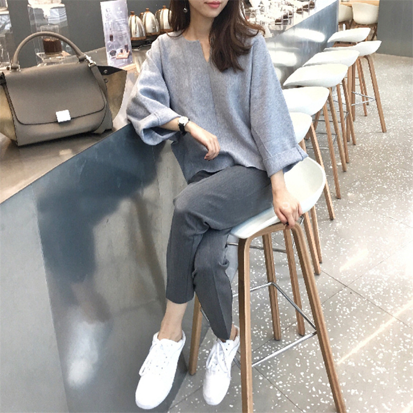 Weep Yafeng Very Fairy Two-Piece Set Western Style Online Celebrity By Age Trousers Fashion Woolen Knit WOMEN'S Suit Early Autum