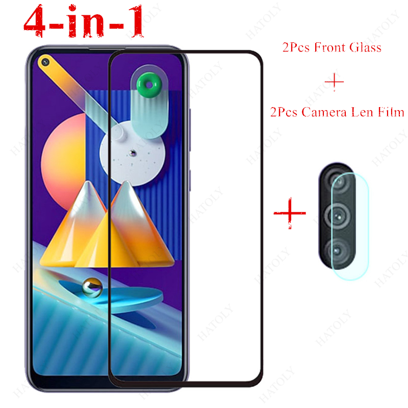 2PCS For Samsung Galaxy M11 Glass For Samsung Galaxy M21 M31 A11 A21 A31 A41 A51 A71 A01 A50 Tempered Glass Screen Protector