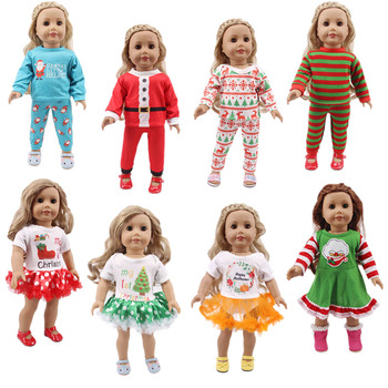 Doll clothes, skirt, Halloween, Christmas design for 18-inch American baby doll and 43cm bald doll image