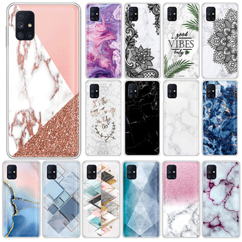Marble TPU Case For Samsung Galaxy M51 4G Soft Silicone Back Cover For SamsungM51 GalaxyM51 M 51 6.7 Phone Cases Fundas Coque image