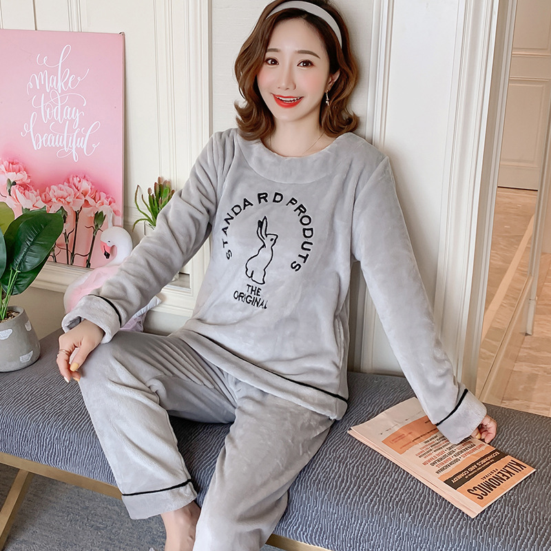 Betyline 2019 New Winter Pajamas For Women Sleepwear Warm Flannel Long Sleeves Pajamas Cute Animal Homewear Thick Homewear 166