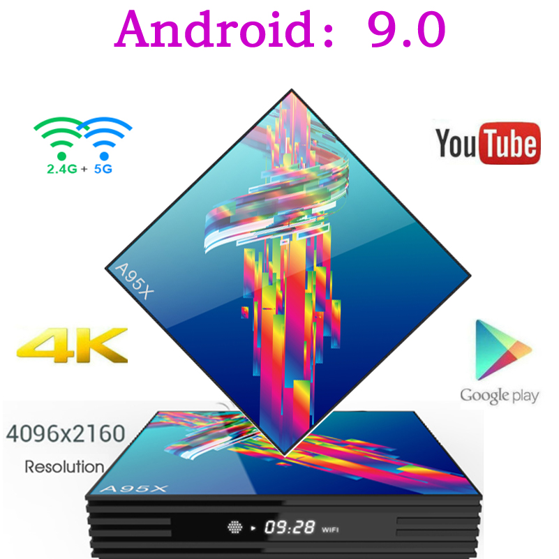 A95X R3 Smart Tv Box Android 9.0 Set Top Box 4K 3D Mi ni Tv Box 2gb 4gb 32gb 64gb Quad Core media player PK X96 MINI HK1 Max mi xanes a6s