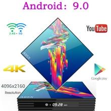 A95X R3 Smart Tv Box Android 9.0 Set Top Box 4K 3D Mi ni Tv Box 2gb 4gb 32gb 64gb Quad Core media player PK X96 MINI HK1 Max mi hk1 mini android 9 0 tv box 4gb 64gb rk3318 quad core 32gb smart tv box 2 4 5 0g wifi bt4 0 hdr 4k 3d media player