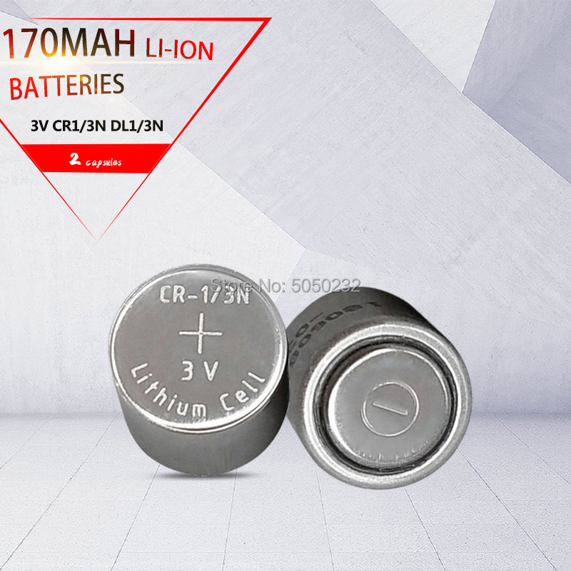 2pcs Original 170mah CR-1/3N CR13N M6 M7 DL-1/3N CR1/3N 3v For Camera Locator Primary Lithium Battery