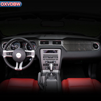 For Ford Mustang 2009 2013 LHD RHD Carbon Fiber Car Stickers Dashboard Instrument Panel Trim Cover Interior Moulding Decorative