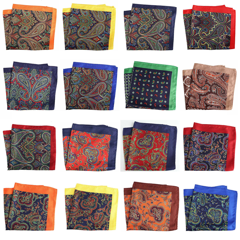 32 Colors 2019 Men's Handkerchief Polyester Pocket Square Floral Hankies Hanky Printed Business  Wedding Party 32*32CM PH1-37