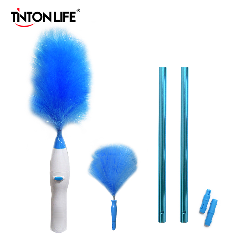 Electric Dust Cleaner Spin Feather Duster 360° Adjustable Dust Cleaning Brush Microfiber Magic Duster Instant Duster