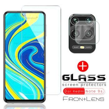 Перейти на Алиэкспресс и купить Защитное стекло для задней камеры, 2 в 1, для xiaomi redmi 9a 9c note 9 pro max nota note 9 s, защитная пленка tremp