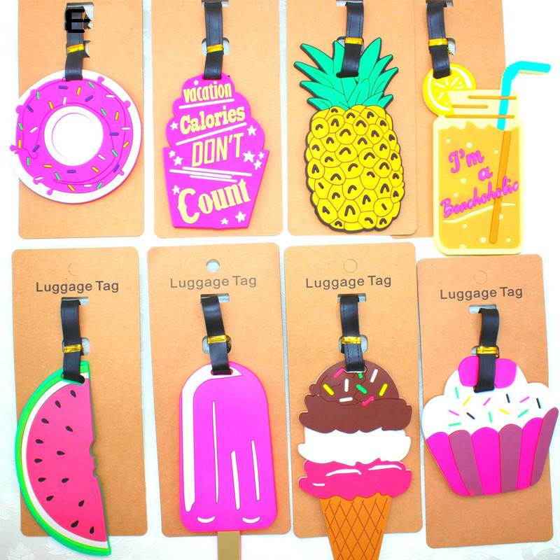 Travel Accessories Luggage tag Creative PVC Suitcase ID Address Holder Baggage Boarding Tags Portable Label