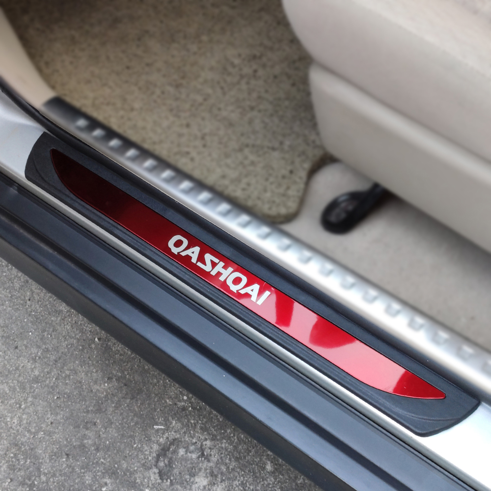 Car <font><b>Accessory</b></font> For <font><b>Nissan</b></font> <font><b>Qashqai</b></font> J11 Door Sill Strip Styling Sticker Guard Cover <font><b>2014</b></font> 2015 2016 Auto Stainless Steel 2018 2019 image