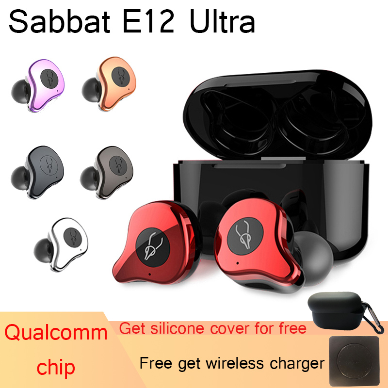 Sabbat E12 Ultra Bluetooth 5.0 Aptx Earphones TWS Bluetooth Headsets Earbuds True Wireless Noise Reduction Earphones with mic image