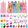 1set Girls BJD Doll Shoes Bags Clothes Hangers Accessories Play House Toy Accessories Suitable for 30cm Doll