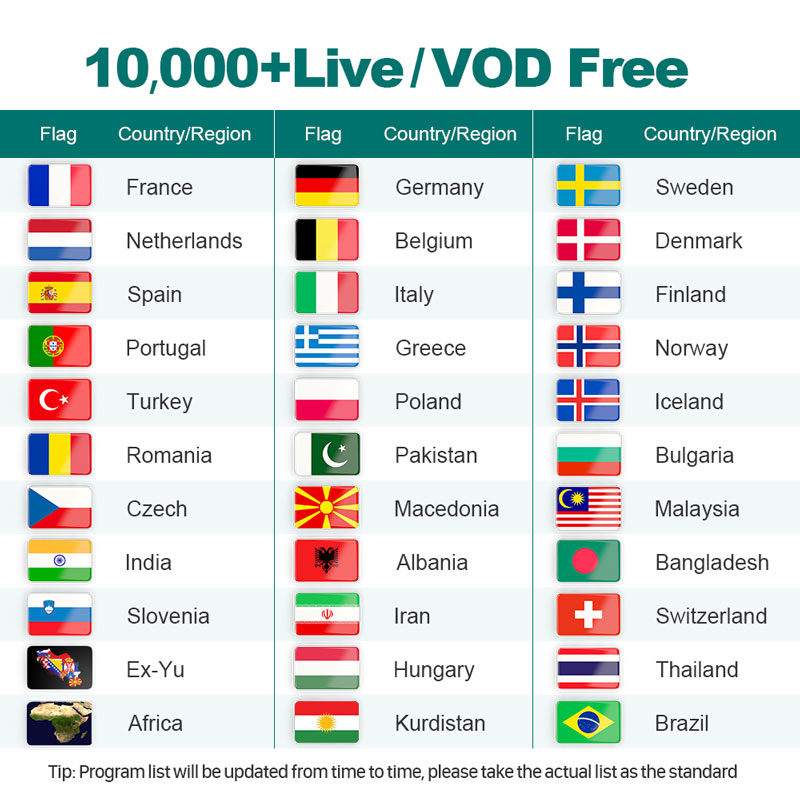 4k IPTV Swedish Full HD 1 Year IPTV Subscription IPTV Arabic Belgium Dutch Portugal Spain Germany Sweden Italy For Android M3u