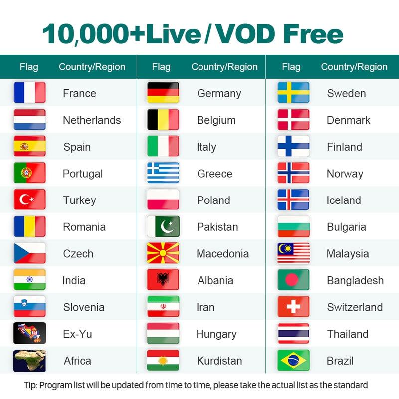 4k IPTV Swedish Full HD 1 Year IPTV Subscription IPTV Arabic Belgium Dutch Portugal Spain Germany Sweden Italy For Android M3u