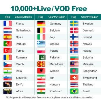 IPTV sueco de 4k con suscripción IPTV de 1 año IPTV, árabe, Bélgica, holandés, Portugal, España, Alemania, Suecia, Italia, para Android M3u