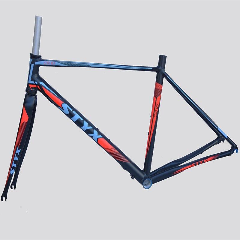 Last 1440g 700C Road Bike Frame Super Light Aluminum Frame 47  Bike Frameset With Bicycle Fork Women's Bike Frame Bicycle Parts