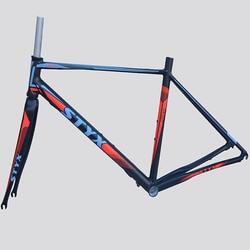 Ultimo 1440g 700C telaio della bici della strada super leggero telaio in alluminio 47 frameset della bici con la forcella della bicicletta della bici delle donne telaio della bicicletta parti