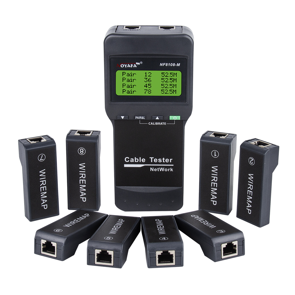 Cable Cable Continuity Cat5E M Network Tester STP Testing Noyafa Length Remote CAT5 With 8 NF8108 6E RJ45  UTP