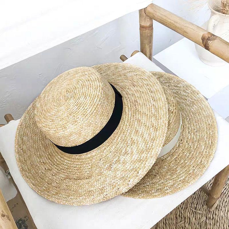 Blue Bow Polka Dot Women Summer Wide Brim Straw Hat Floppy Derby Beach Sun Fold