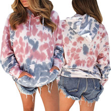 2019 New Style Women Printed Hooded Long-sleeved Pockets Jackets Ladies Casual Tops For Autumn Winter