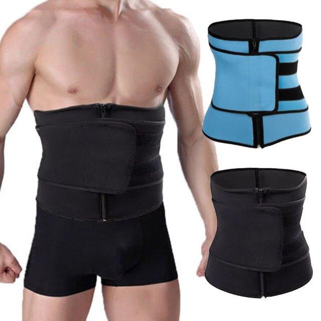 Men Women Tummy Waist Trainer Cincher Sweat Belt Trainer Hot Body Shaper Slim Shapewear Sweat Belt Waist Cincher Trainer S-3XL 3