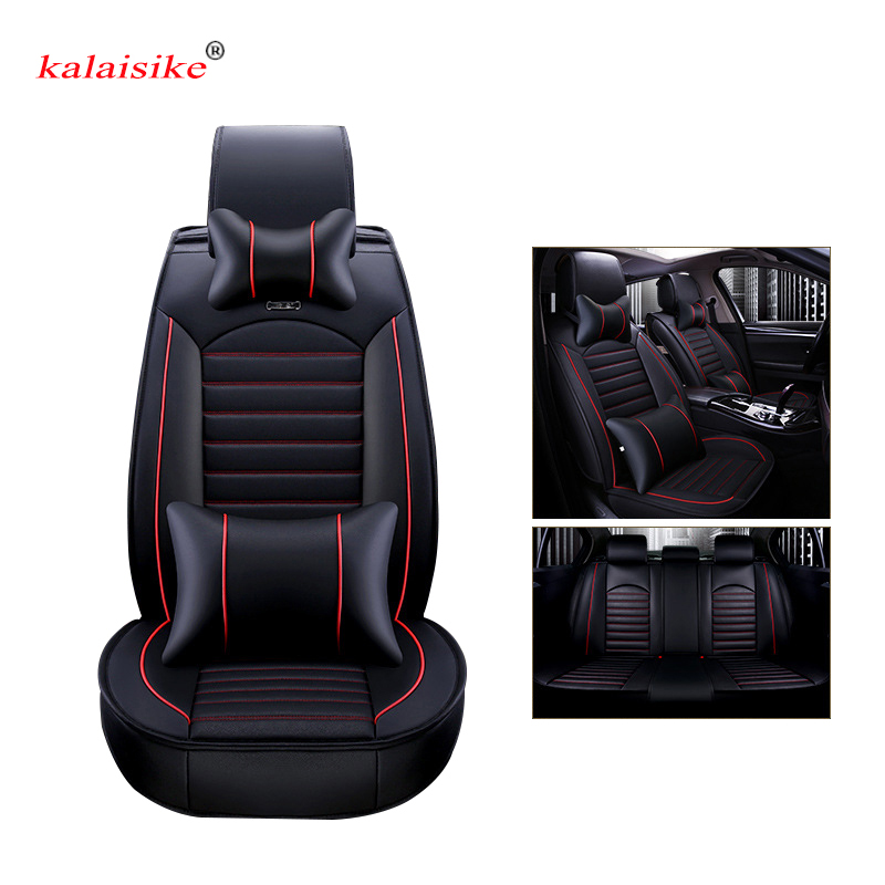 Kalaisike leather Universal Car Seat covers for Hyundai all models i30 ix25 ix35 solaris elantra terracan accent azera lantra - 6