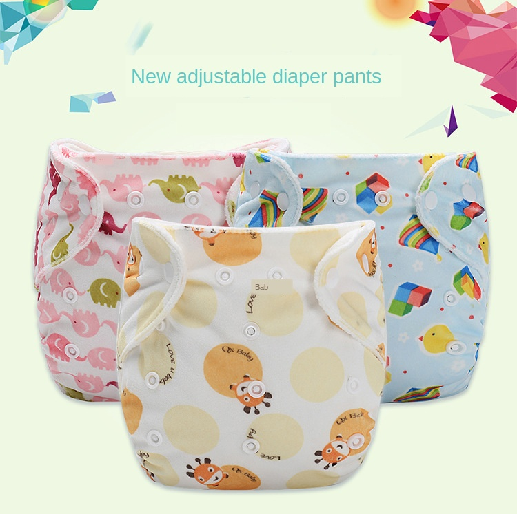 Baby Super Soft Thick Cloth Diaper Baby Washable Adjustable Learning Pants Printed Diaper Training Pants