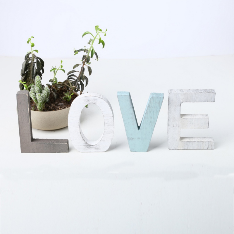 LOVE Freestanding Decorative Wooden Letters Sign Rustic Home Decorations For Home Wedding Housewarming Gift Letras De Madera