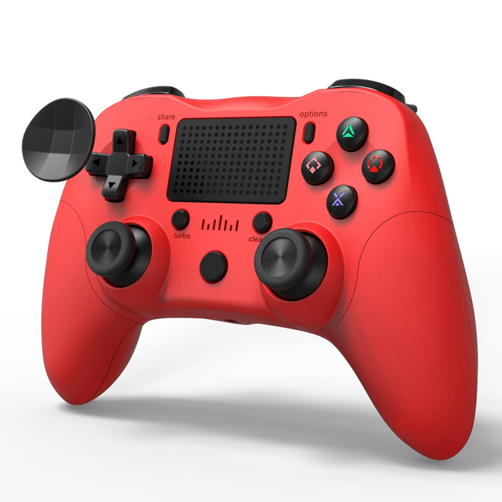 ALLOYSEED Drahtlose Bluetooth Gamepad <font><b>Dual</b></font> Vibration 6-Achse Spiel Controller Joystick Griff Kopfhörer Jack Für PS4 PC Android <font><b>TV</b></font> image