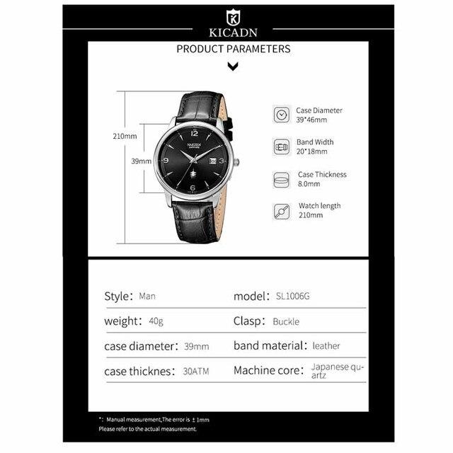 Купить nakzen роскошные кварцевые часы для мужчин кожаные наручные картинки цена