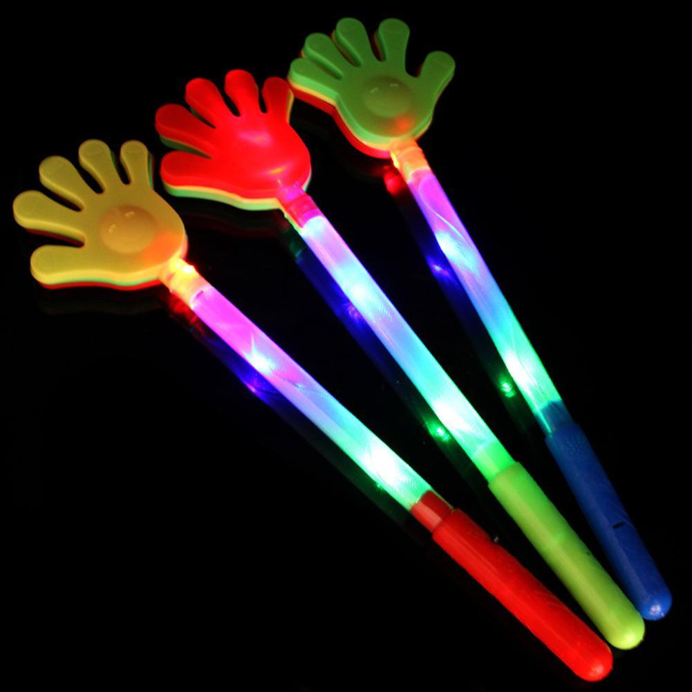 Colourful Flashlight LED Light Hand Clap Luminous Hands Palms Fluorescent Clap Flash Clap Light Up Toys For Kids
