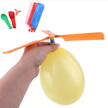 1set Fun Sound Balloon Helicopter DIY Inflatable Physics Experiment Homemade Plays Flying Toy Ball for Science Lab for Kids Gift flashlight lab toy education series physics generator children experiment circuit teaching science projects for kids stem toys