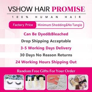 Image 5 - VSHOW البرازيلي فضفاض موجة عميقة 100% نسج على شكل شعر إنسان تمديدات شعر ريمي 1/3/4 حزم اللون الطبيعي فضفاض موجة عميقة حزم